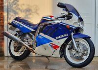 UK 1989 Suzuki GSXR 750 Slingshot - Spares  Repair project bike NOW START & RUNS