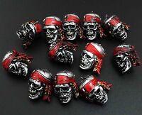 "LOT OF 12 Pirates of the Caribbean - SKULL MINI FIGURE 0.5"" / 2CM #h6"