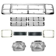 New Bumper Grille Headlamp Signal Lamp Front for Dodge D150 92-93 Pickup 2-Door