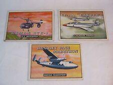 TOPPS WINGS TRADING CARDS CF-100 KAMAN HTK-1  HANDLEY PAGE MARATHON PLANE     T*