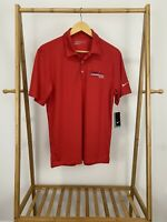 NWT Nike Golf Men's Carolina Campers & RVs Red Polo Dri-Fit Shirt Size S