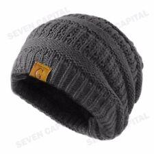 Women's Men Knit Slouchy Baggy Beanie Oversize Winter Hat Ski Fleece Slouchy Cap