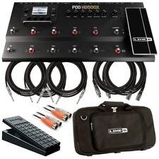 Line 6 POD HD500X Multi-Effect Floorboard COMPLETE STAGE BUNDLE