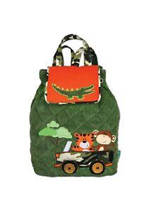 Personalised Stephen Joseph Safari Signature backpack for children, school bag
