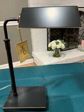 Ralph Lauren Bankers Table Lamp Adjustable Black Tone Luxury Lighting