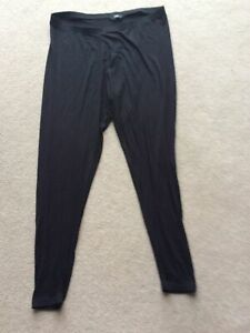 Ladies Size 18 Black Full Length Elasticated Waist Leggings By F&F