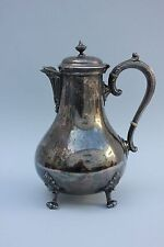 Silberne Kaffeekanne, England, Mitte 20.Jahrhundert