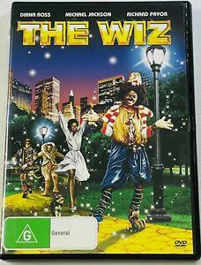 The Wiz (DVD) Diana Ross Michael Jackson Pryor PAL Region 4 Free Postage