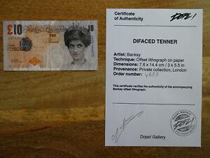 Banksy Di-faced Tenner -Original Lithograph -  COA