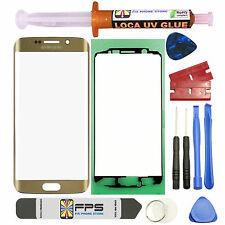 Samsung Galaxy S6 Edge OEM G925 Gold Glass Lens Screen Replacement Loca UV Glue