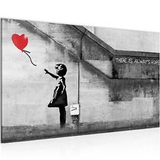 Wandbild XXL Banksy Girl with Balloon Abstrakt Leinwand Vlies Bilder Streetart