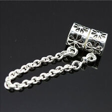 Silver Charm Alloy  Chain Bead Safety Chain Bead Fit Bracelet Jewelry Making