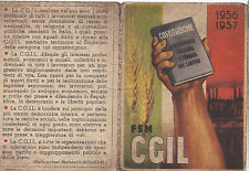 TESSERA FSM CGIL 1956 1957  SINDACATO PORTUALE DI SAVONA 1-283