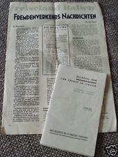 2x Hotel- und Bezingutscheine ITALIEN 1938  Fremdenverkehrs Nachrichten Reise -L