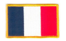Toppe Toppa PATCH FRANCIA 7x4,5cm Bandiera banderina ricamata termoadesivo