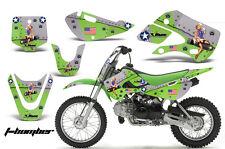 Decal Graphic Kit Wrap For Kawasaki KLX 110 2002-2009 KX 65 2002-2018 TBOMB GRN