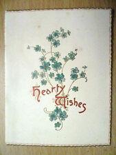 """Vintage 1904-5 Noël et nouvel an Carte de Vœux """"copieux souhaits de Bertha cave"""""""
