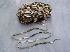 Satin Fringe Ladder Knitting Yarn Khaki Mix 10 x 50g Scarves Gloves Hats Hoods