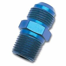 """Russell 660470 Fitting Straight -8 AN Male to 1/4"""" NPT Male Aluminum"""