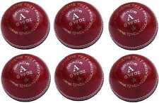P6 X BooM Pro Cricket Ball Professional Grade A Supreme Test Red Leather 5.5 oz