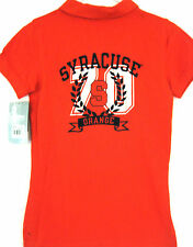 NWT Syracuse Orange Women's Medium SS Fitted Style Golf Polo Front Back Shirt