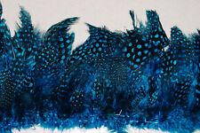"30"" GUINEA FRINGE - BLUE Feathers 3-6"" Craft/Pads/Hats"