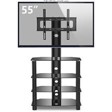 Media TV Stand with 4-Tier Audio Glass Shevles for 32-55 inch LCD LED OLED TVs