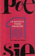 LA NOUVELLE POESIE FRANCAISE  N° 17  BOSQUET CHEDIDDELCARTE IZOARD SABATIER  ETC