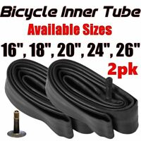"2x 16"" 18"" 20"" 24"" 26""  Inner Bike Tube Bicycle Rubber Tire Interior BMX Cruiser"