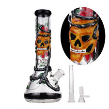 Skull Orchid Glass Vase Bottle Hookah Shisha Smoking Tobacco Pipe Bongs