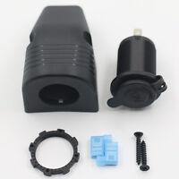KE_ Waterproof 12V Car Lighter Socket USB Charger Power Adapter Outlet