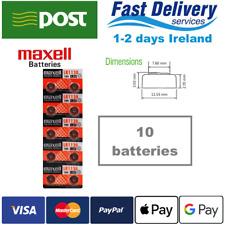 AG10 1.5V MAXELL Lithium Coin Button Battery 189,LR1130,LR54,SR1130W 10pcs