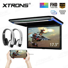 "17.3"" Car Roof Overhead Flip Down Monitor HDMI/USB/SD Game 1080P Touch Panel +IR"