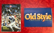 1991 CHICAGO CUBS  FOLDOUT POCKET SCHEDULE  RYNE SANDBERG on cover