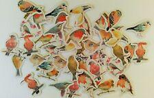 45 Vögelchen Stickerbomb Sticker Aufkleber Kinder basteln Deko Herbst Sommer