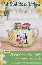 Afternoon Tea Party, Tea Cozy Pattern to Make,  DIY Sewing, Pink Sand Beach