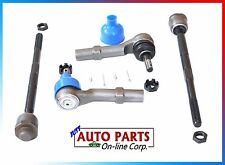 NEW 4 INNER & OUTER TIE ROD CHEV TAHOE CADILLAC ESCALADE GMC YUKON XL 1500 07-14