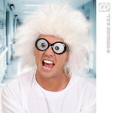 White Mad Professor Wig Scientist Doc Brown Fancy Dress