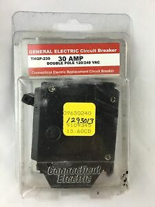 30 Amp 2 Pole GE GENERAL ELECTRIC FULL SIZE BREAKER THQL230 240V AMP Electric