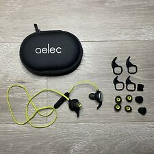 Aelec wireless Bluetooth sports earbuds. Magnetic. 14 accessories + carry pouch