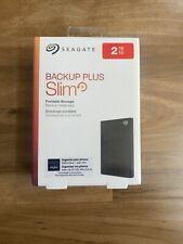 Seagate Backup Plus Slim USB 3.0 2TB External Hard Drive-Black, Factory Sealed