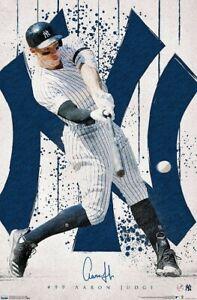Aaron Judge PINSTRIPE BLAST New York Yankees MLB Signature Action Wall POSTER