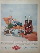 1959 Royal Crown RC Cola Soda Mother Daughter Lawn Chair Pots Plants Original Ad