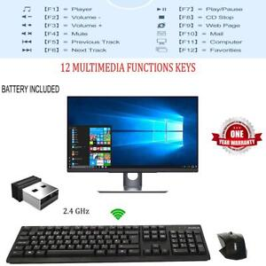 ProTech 2.4GHz USB Wireless Keyboard and Mouse Combo Set Full Size For PC Laptop