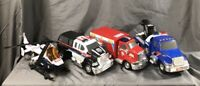 Tonka Toy Truck Set - Police - Ambulance Helicopter - Tow Truck - All Work 100%