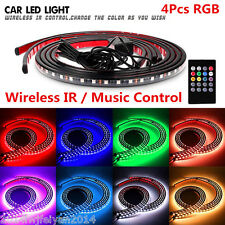 8 Colors RGB LED Strips Under Car Underglow Underbody Music Control Neon Lights