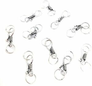 10 small sterling silver hook and eye clasp for delicate designs