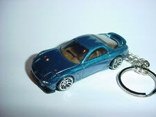 NEW 3D BLUE MAZDA RX-7 CUSTOM KEYCHAIN keyring key racing 1995 95 BACKPACK BLING