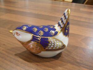 Royal Crown Derby Paperweight Wren
