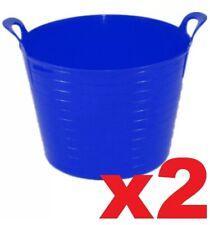 2 x 40L Flexi Tub Garden Plasterers Bucket Car Wash Feed Bucket Builders Tub